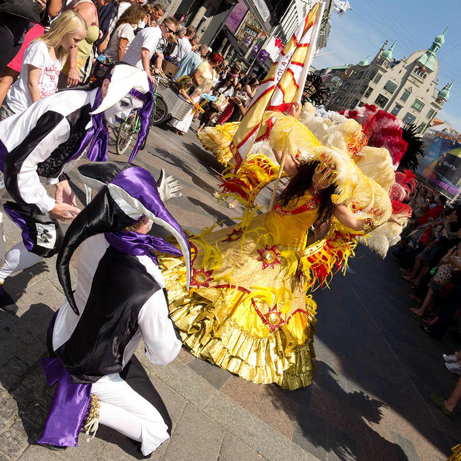 Dancing at the Copenhagen Carnival